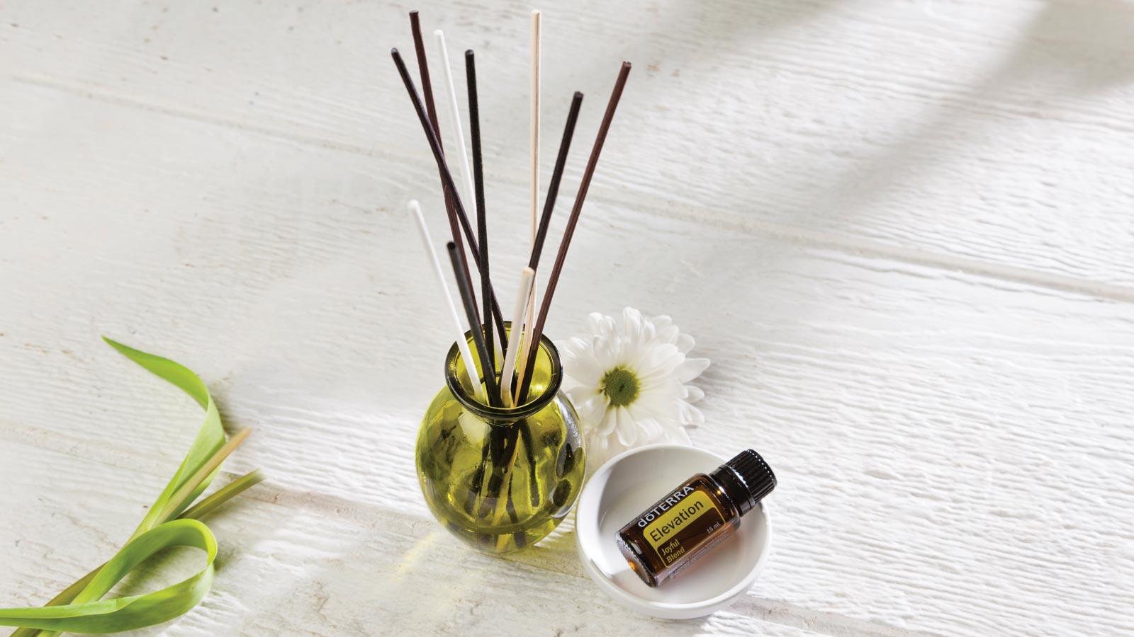 Diy reed essential oil diffuser d terra essential oils for Decorative diffuser