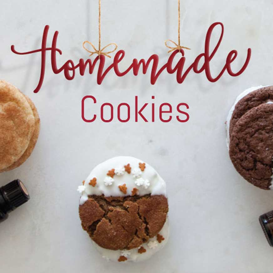 homemade cookies with essential oils