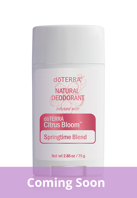 Natural Deodorant infused with dōTERRA Citrus Bloom™ Springtime Blend