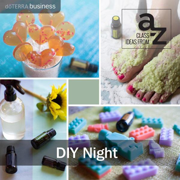 Class Ideas From A To Z: DIY Class Night