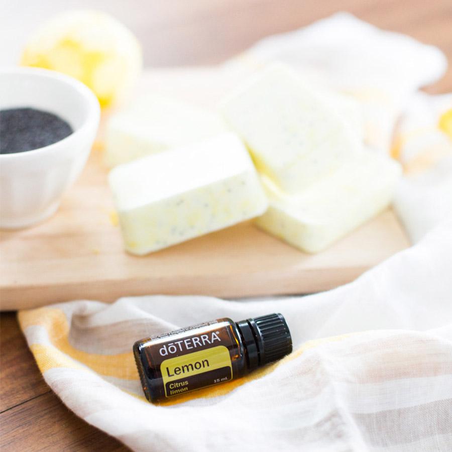 Doterra bathroom cleaner - Lemon Poppy Seed Soap