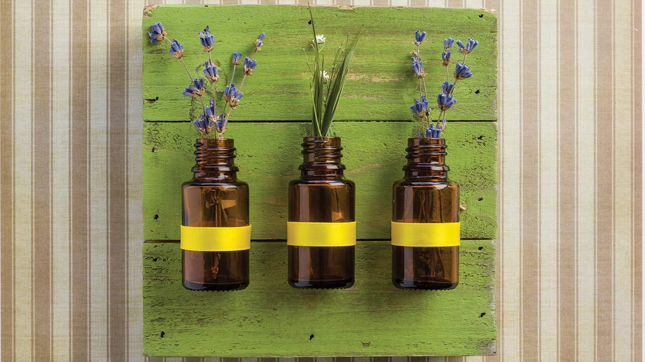 Diy Amber Bottle Wall Art Dōterra Essential Oils