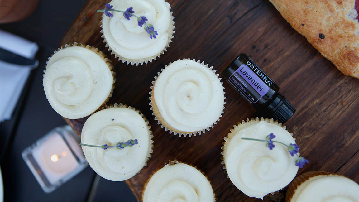 Lavender Cupcakes With Lavender Frosting Dōterra